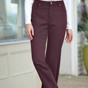 Gloria Vanderbilt women's plum 18 average jeans